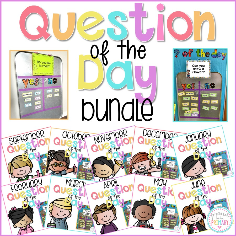 question of the day bundle of questions for the classroom