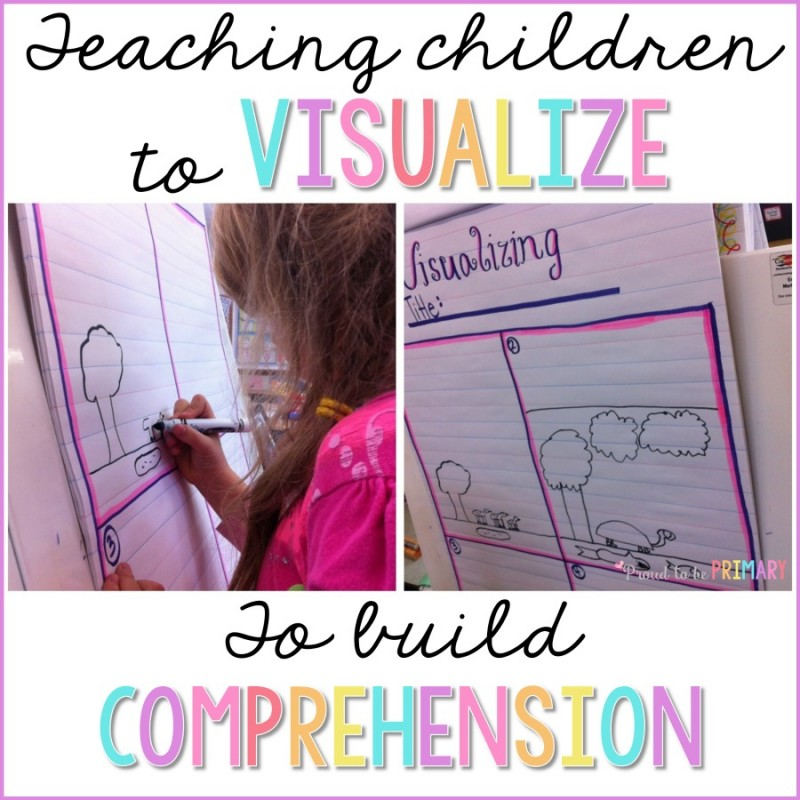 Are you classroom teacher looking for engaging ways to teach your students to comprehend stories? Read this post for primary ideas on how to get children to learn to visualize and build reading comprehension. #readingcomprehension #teachingreading #literacy #earlyliteracy #visualizing