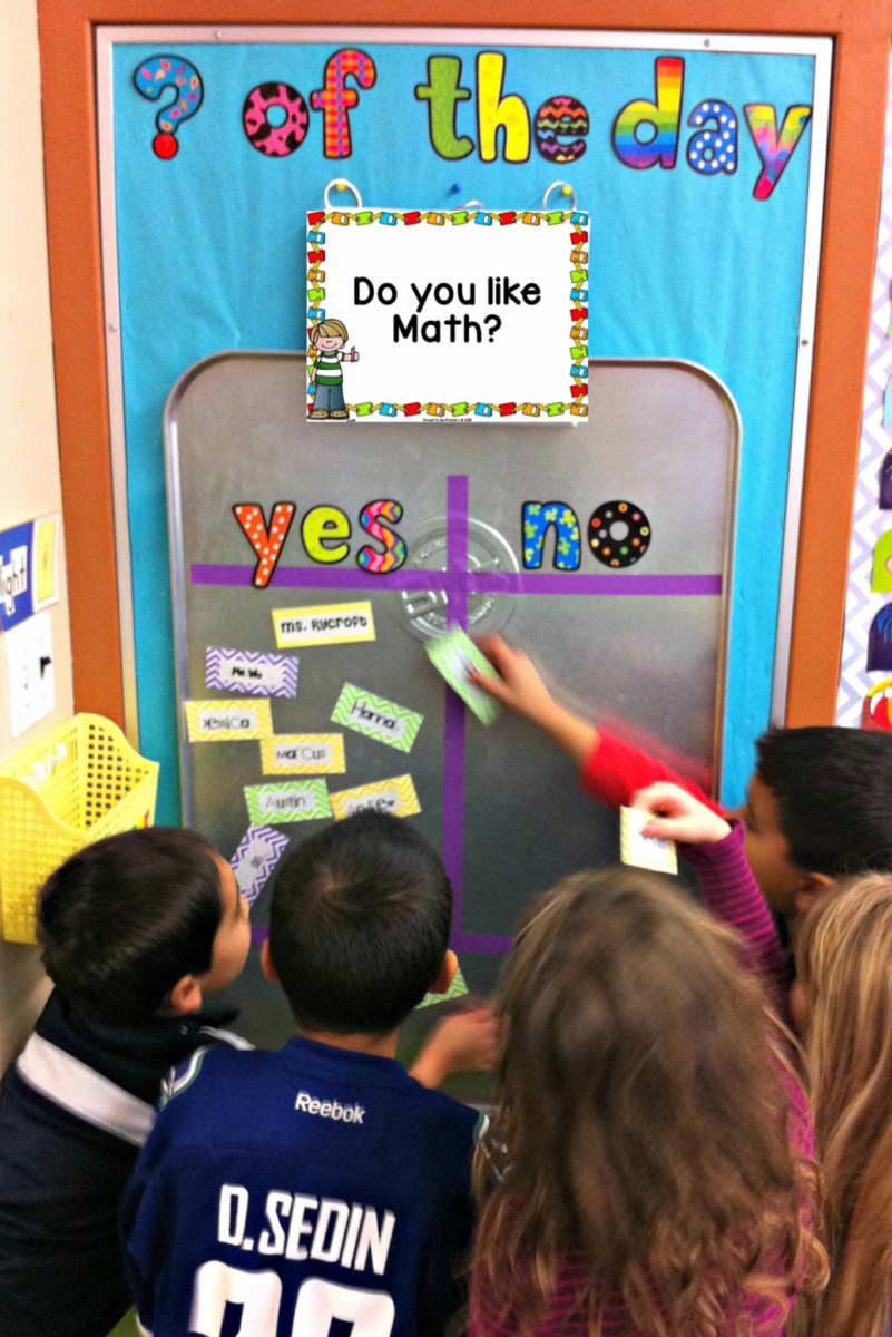 kids standing at the question of the day