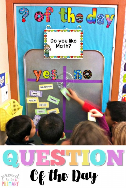 Need a fun classroom management activity to get kids focused and ready for the day? Teachers can set-up a DIY Question of the Day board with a drip pan and a few simple materials. Kids will love reading the different questions posted each school day!