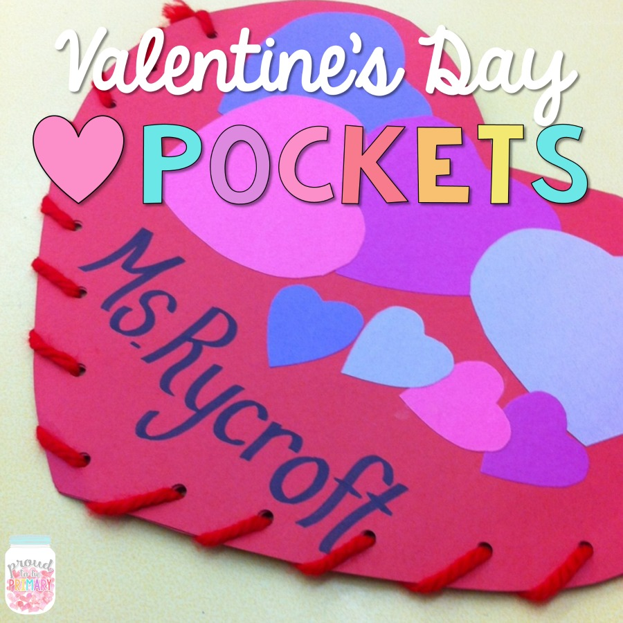Valentines Day Heart Pockets  Proud to be Primary