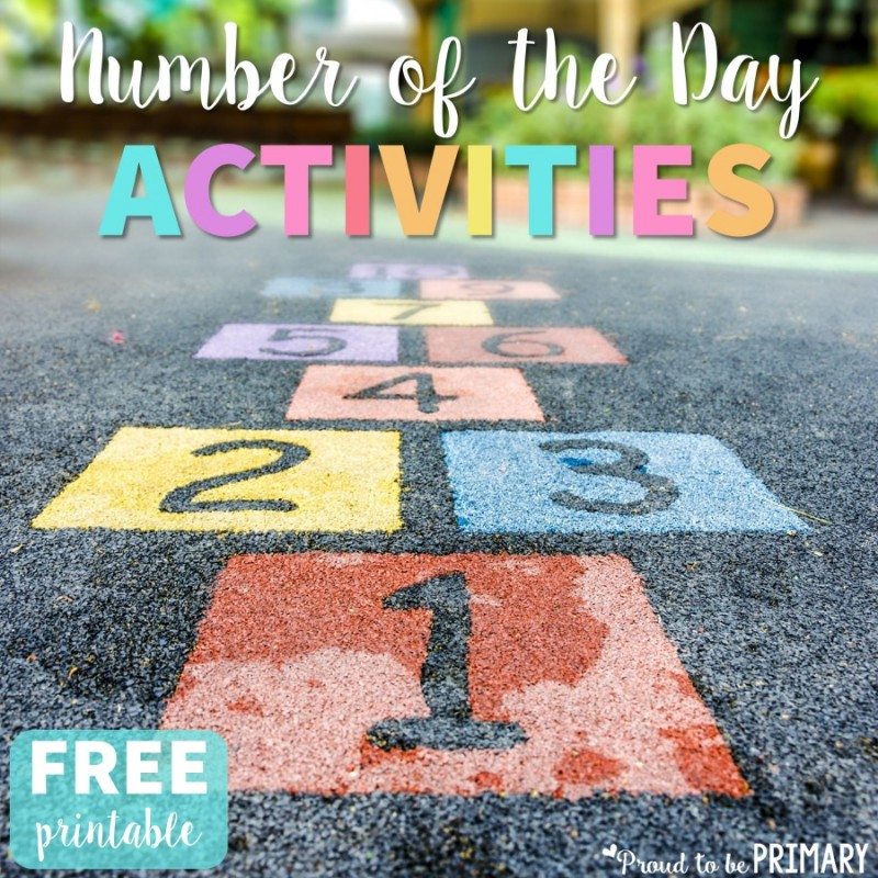 Build your student's number sense using the number of the day routine of breaking down and represent numbers in different ways. Includes a FREE printable for assessing number sense. #numbersense #numberactivities #numberoftheday #mathforkids #mathactivities #numbertalks