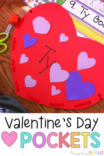 valentine mailbox idea - valentines day heart pockets PIN