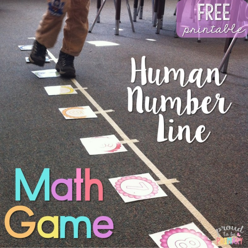 Human Number Line Math Game