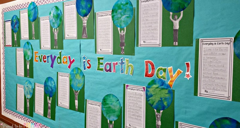 Earth day classroom activities | Earth Day is an important day for teachers to teach children about keeping the Earth clean with these engaging classroom activities. Includes ideas about an Earth Day bulletin board using newspaper kids, art activities, book suggestions for lessons, and a writing FREEBIE!