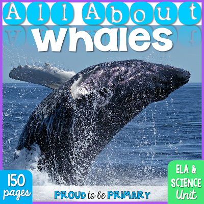 whales for kids - All About Whales ELA and Science unit