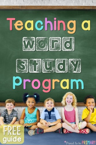 This post details how-to teach a word study program to children using sight words, phonics and word family instruction, morning messages, and meetings. Includes FREE printable resources to get you organized and your literacy program ready! #kindergarten #literacy #earlyliteracy #teachingreading #phonics #morningmeetings #teacherfreebie