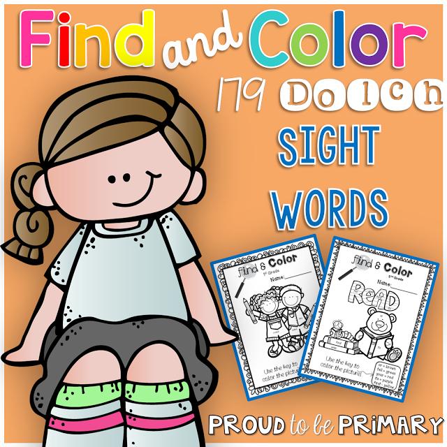 Find & Color Sight Word Bundle