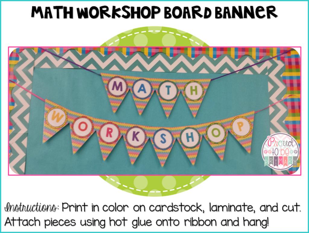 Complete Math Workshop Tool Kit - board banner