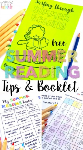 TRUTH: Teachers and parents can make reading over the summer FUN with these summer reading tips and a FREE booklet kids will LOVE!