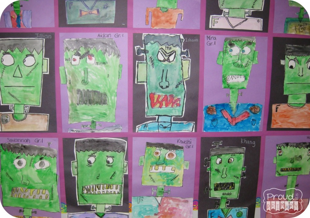 Frankenstein drawing activity