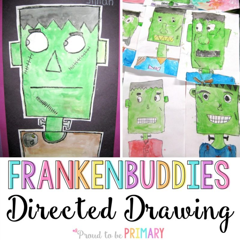 Frankenstein Franken-Buddies Directed Drawing