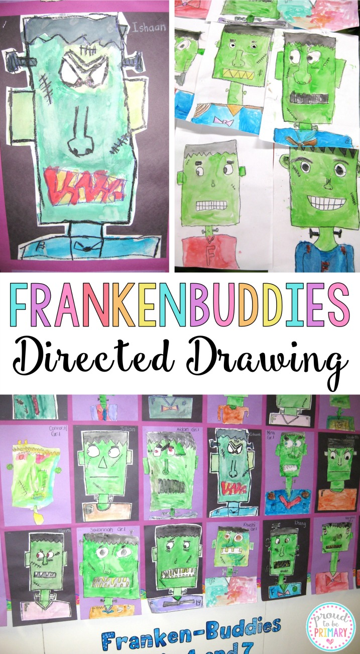 Complete this Frankenstein Frankenbuddies directed drawing lesson with your class at school and create the perfect bulletin board display for Halloween. This makes a great Halloween activity for kids! YOU will love the BOO-TIFUL the results!