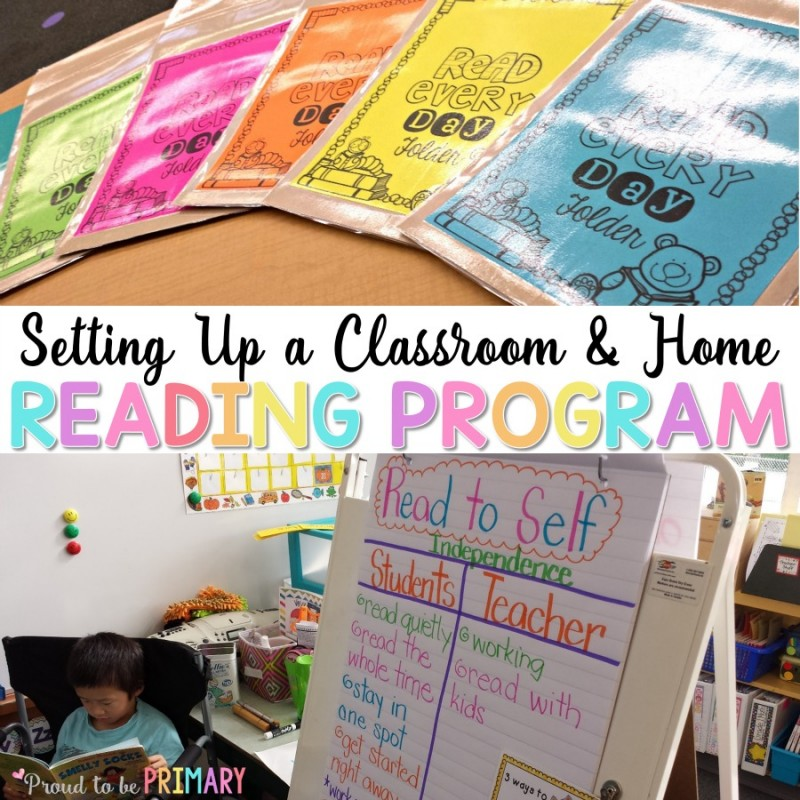 setting up a classroom and home reading program
