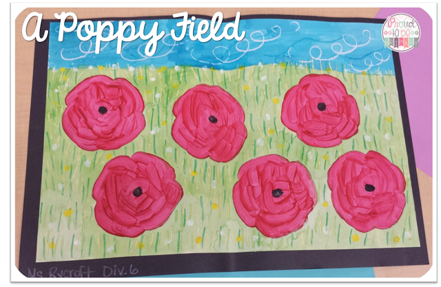 peace activities for the classroom - poppy art activities