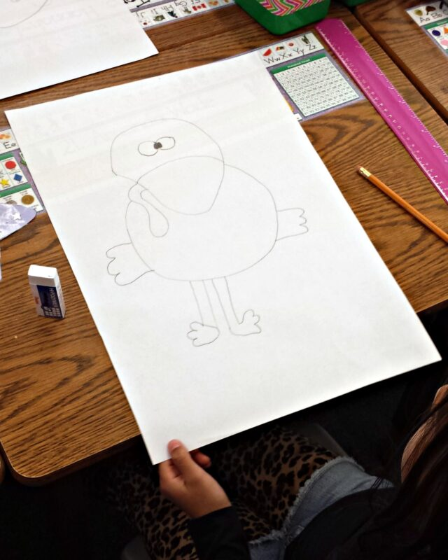 kid drawing of a turkey