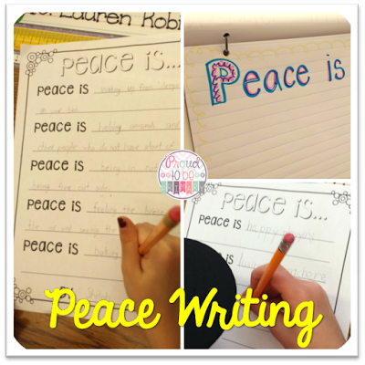 peace activities for the classroom - writing
