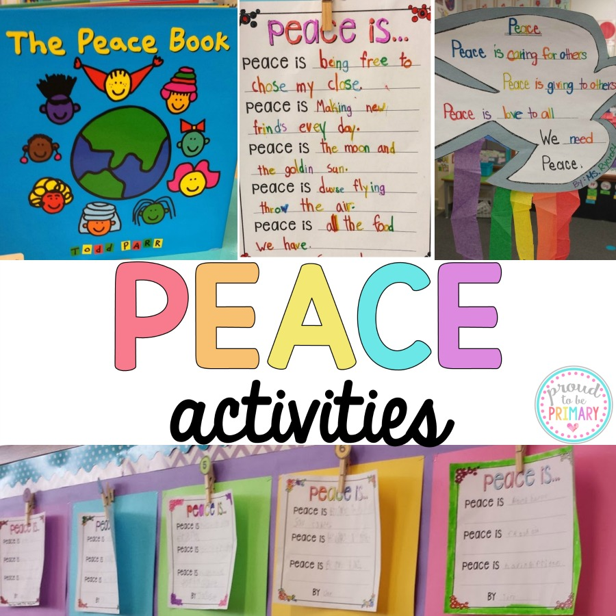 peace activities for Remembrance Day or Veteran's Day