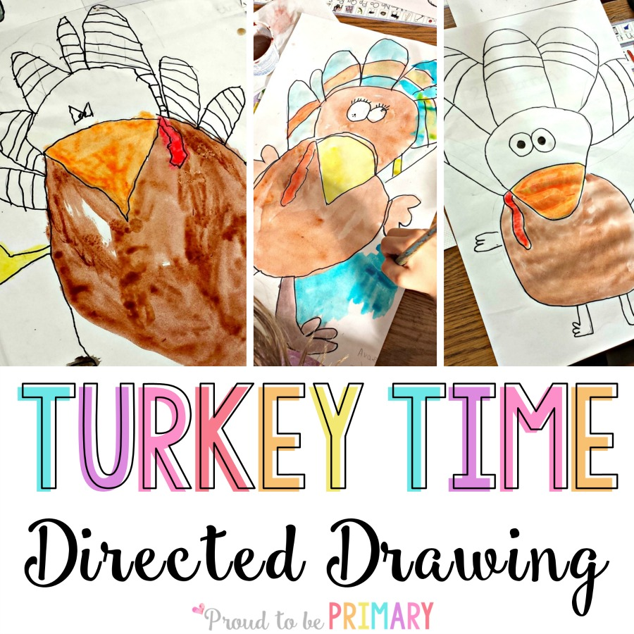 Turkey Drawing Step By For Primary Classroom Students