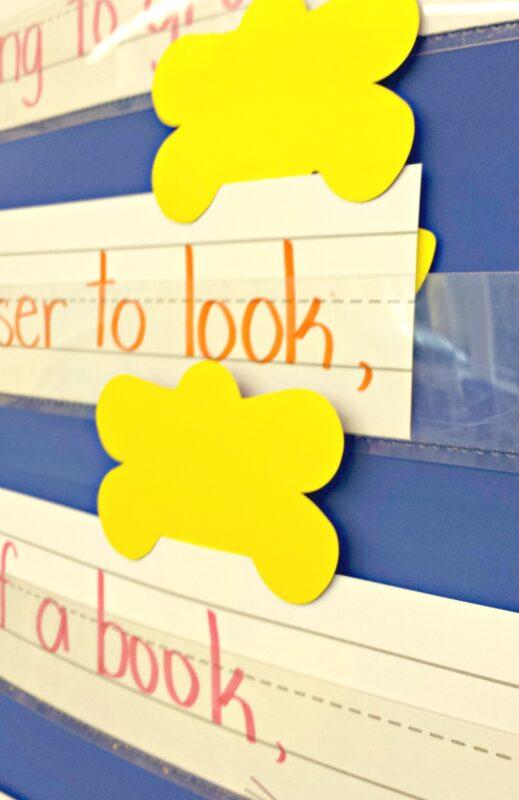 poetry activities - pocket chart words