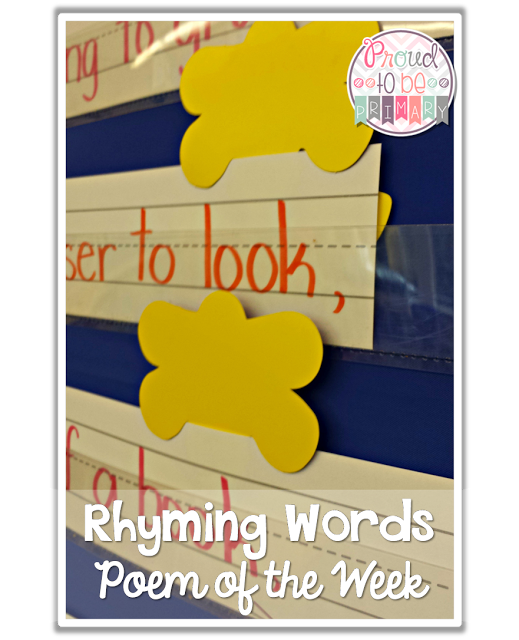 poetry activities - poem of the week rhyming words
