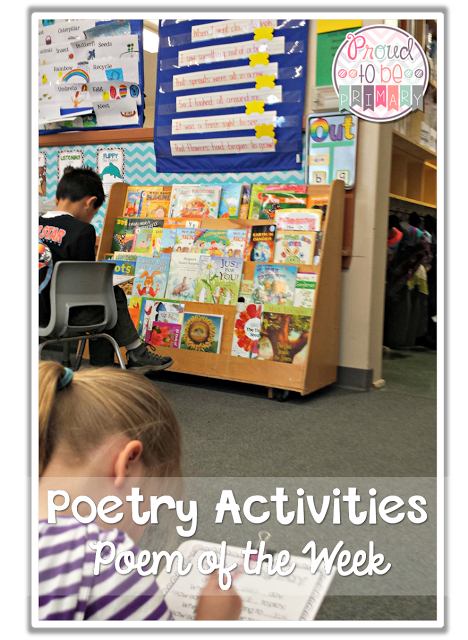 poetry activities - poem of the week