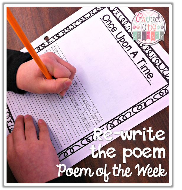 poetry activities - rewrite the poem