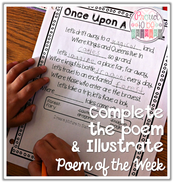 poetry activities - complete the poem and illustrate