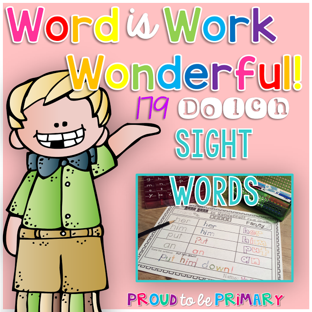 Word Work Sight Word Bundle