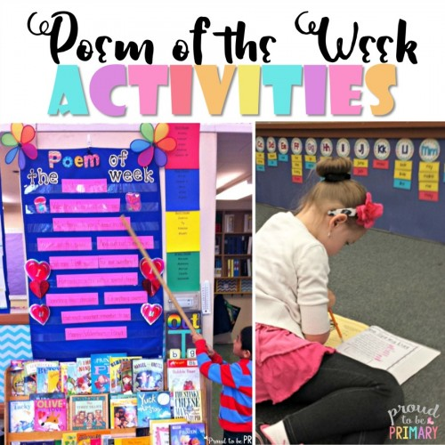 poem of the week activities