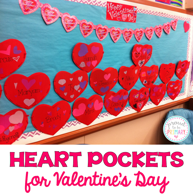 valentine's day activities for elementary school - heart pockets
