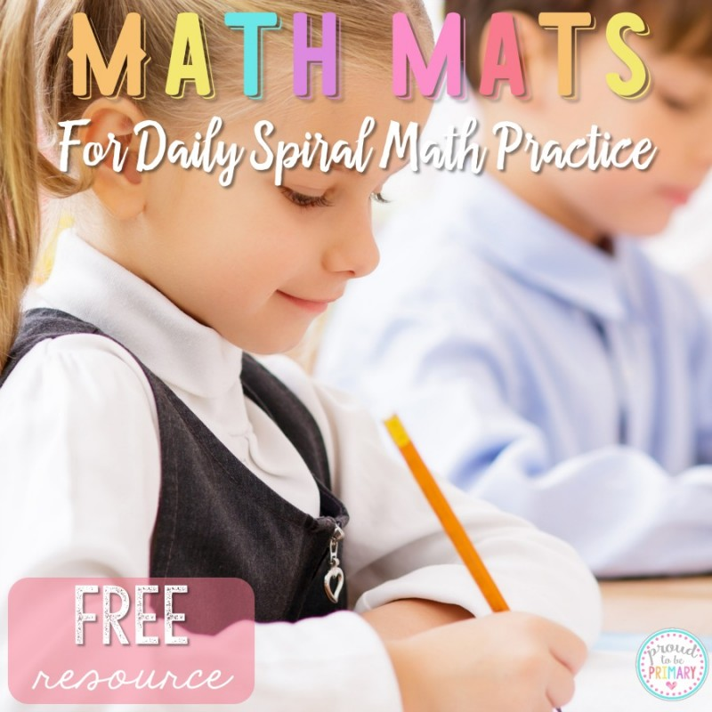 Monthly Math Mats for Daily Math Fact Practice