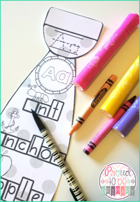 Teaching the alphabet - letter ties
