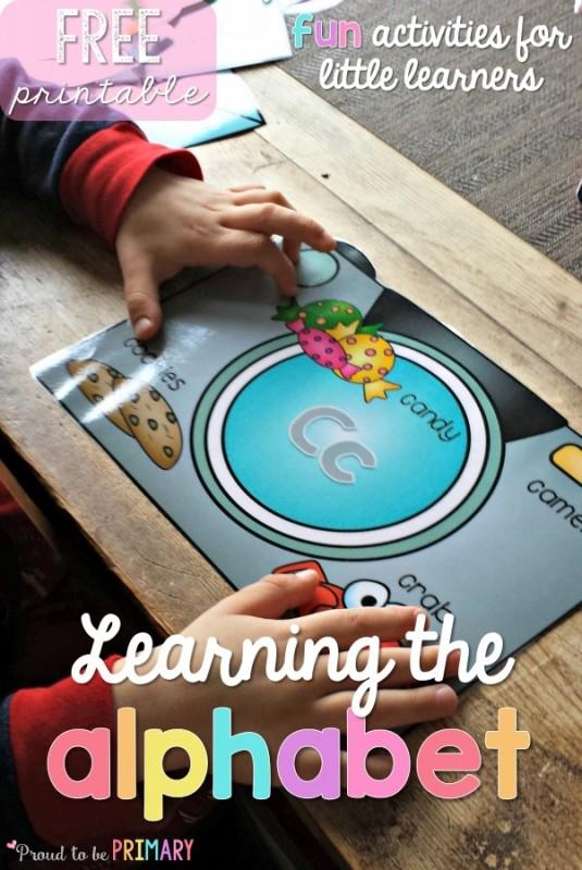 teaching the alphabet - free printable