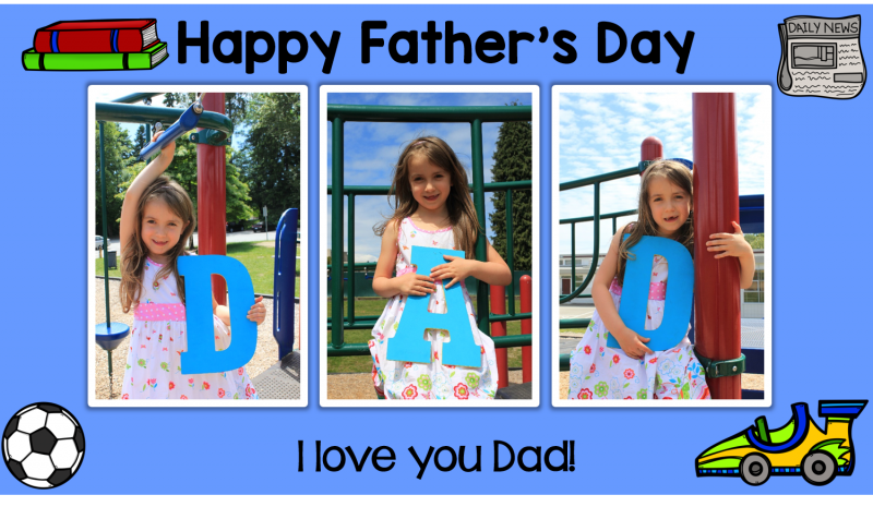 father's day photo idea - a keepsake and classroom activity