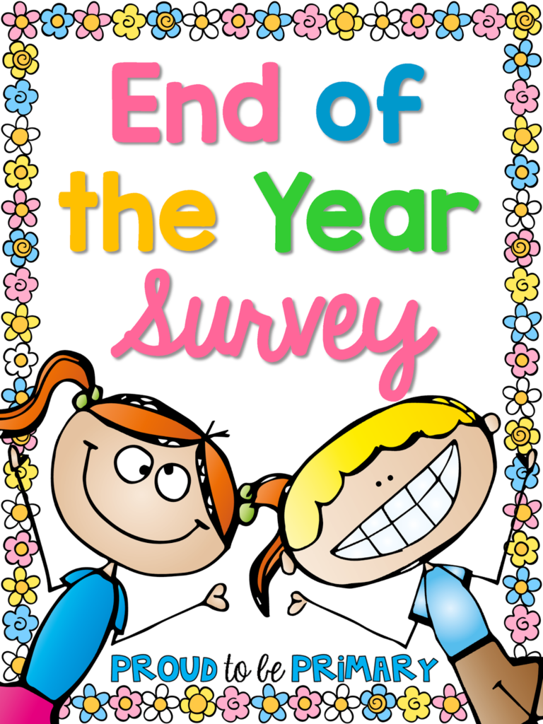 End of the year survey freebie.