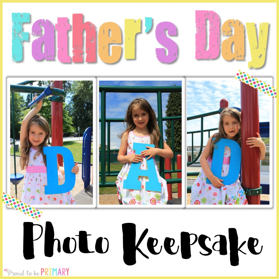 Looking for the perfect Father's Day DIY photo craft idea you can do with children in school? Teachers, check out this post to find out how you can turn photos in a special memory keepsake for dad!