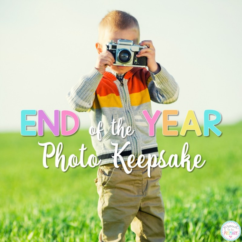 Looking for special keepsake idea for students for the end of the school year? Teachers and kids will love this fun photo idea. Includes a FREE printable survey to get teachers organized and kids writing! #photokeepsake #endoftheyearactivities #endofschool #classroomactivities #classroommanagement #studentgifts