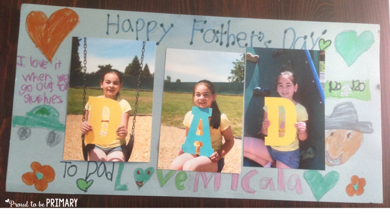 Looking for the perfect Father's Day idea you can do with children in school? Teachers, check out this DIY Father's Day photo keepsake classroom activity to find out how you can turn photos and a few simple art materials in a special memory keepsake for dad!