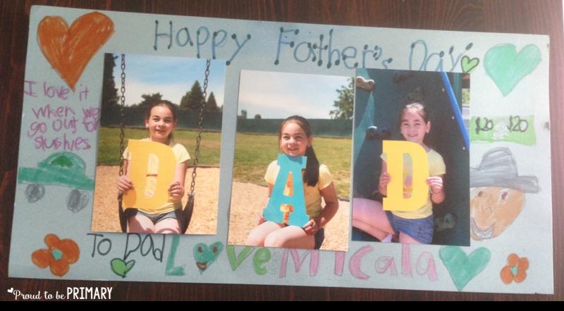 father's day photo idea - a keepsake and classroom activity