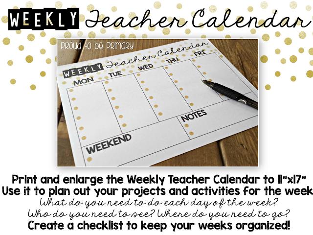 Summer Teacher Calendar & Planner FREEBIE