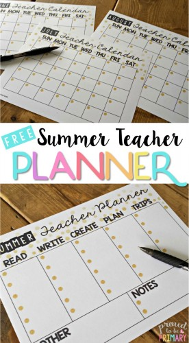 Are you a teacher looking to get organized, relax, and make time for all things important? Grab the FREE summer teacher calendar planner today! #teacherfreebie #classroomorganization #teacherplanner #teacher
