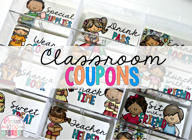 coupons for kids - class coupons in a box