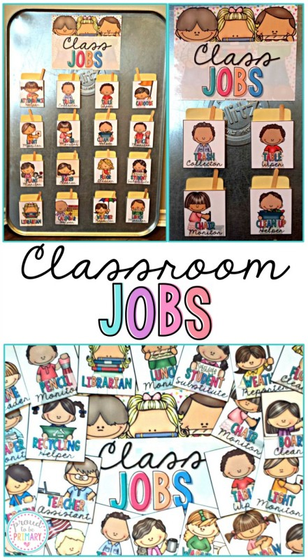 Are you a teacher looking for a way to have students take part in the daily classroom responsibilities? Teach children to be helpful and organized with these classroom job activities! Makes a great positive classroom management strategy for primary kids.