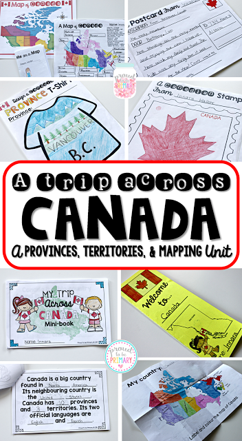 A Trip Across Canada: A unit on Canadian provinces, territories, and mapping/geography.