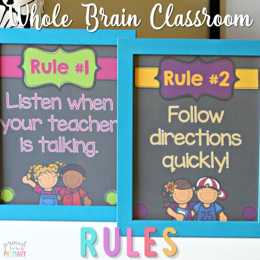 FREE Whole Brain Classroom Rules Posters