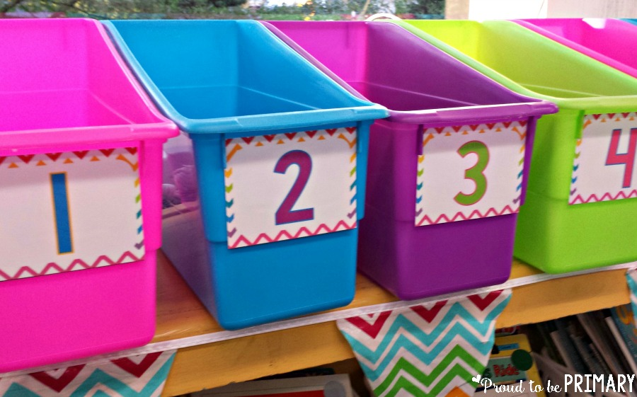 time management for teachers - storage bins