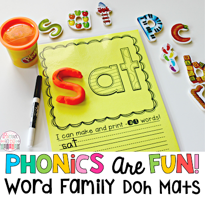 Word Families: Proven Method for Teaching Reading - word family playdough mats