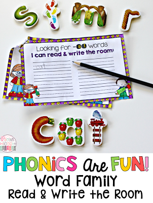 Word Families: Proven Method for Teaching Reading - read and write the room