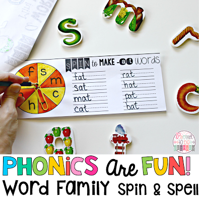 Word Families: Proven Method for Teaching Reading - word family spin and spell